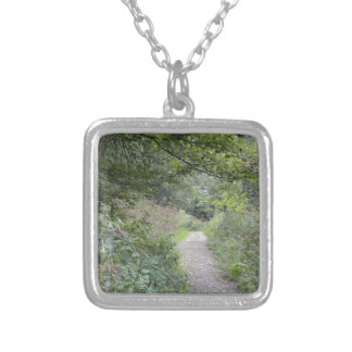 Forest and the foot path personalized necklace