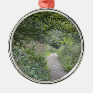 Forest and the foot path Silver-Colored round decoration