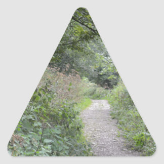 Forest and the foot path triangle sticker