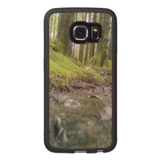 Forest and water wood phone case