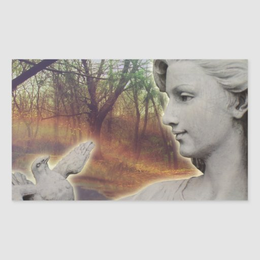 Forest Angel Rectangle Stickers