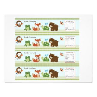 Forest Animal Friends Water Bottle Labels Flyer