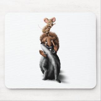 Forest Animal Tower - Children's Illustration Mouse Pad