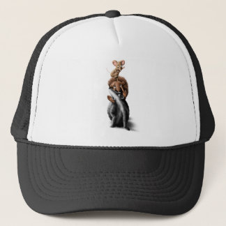 Forest Animal Tower - s Illustration Trucker Hat