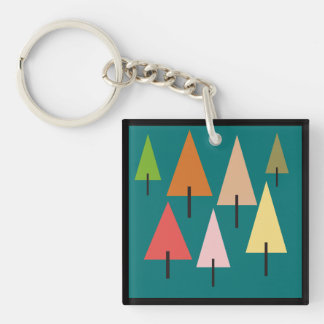 Forest Artistic Impression Key Ring