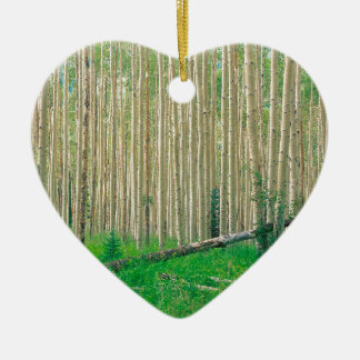 Forest Aspen Grove Independence Pass Ceramic Heart Decoration