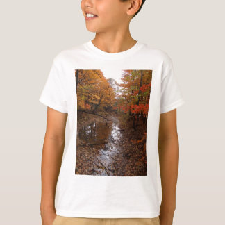 FOREST AT AUTOMN WITH WATER TEE SHIRT