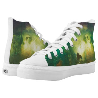 Forest at night printed shoes
