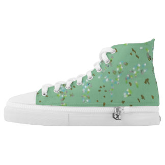 Forest Birds High Tops Printed Shoes