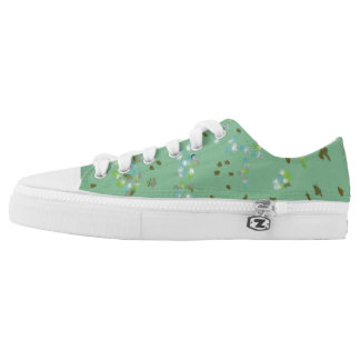 Forest Birds Low Tops Printed Shoes