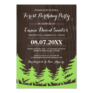 Forest Birthday Party Invites