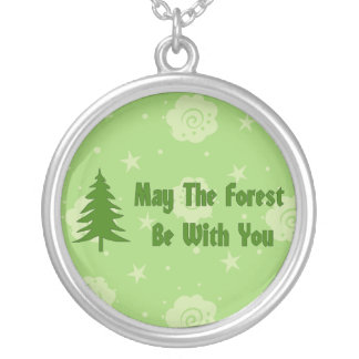 Forest Blessing Round Pendant Necklace