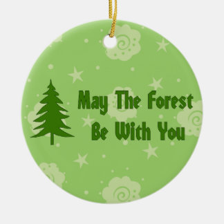 Forest Blessing Round Ceramic Decoration