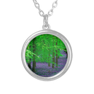Forest Blue Bells Beech Trees England Personalized Necklace