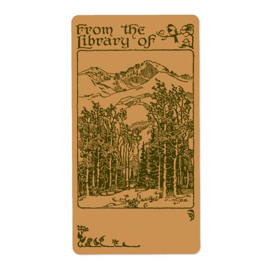 Forest  bookplate shipping label