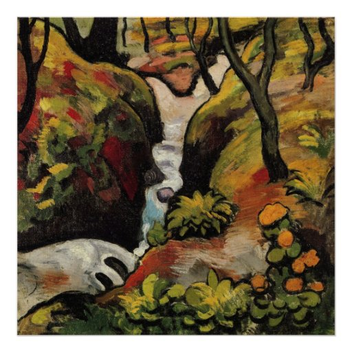 Forest Brook by August Macke Posters