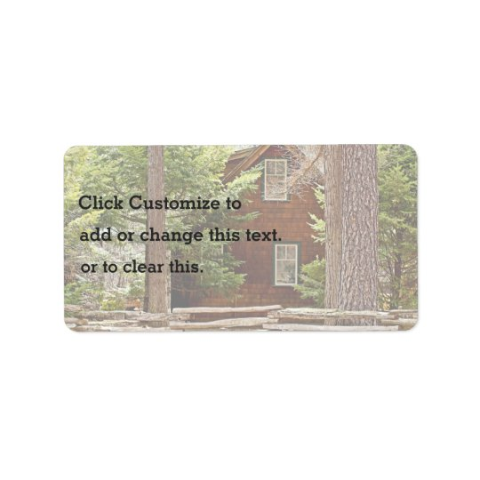 Forest Cabin Label