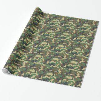 Forest Camo Masculine Gift Wrapping Paper