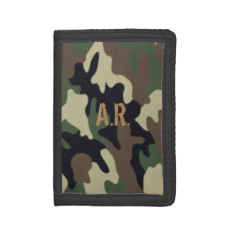 Forest Camo Padfolio Trifold Wallets