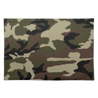 forest camo print camouflage pattern army military placemat