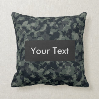 Forest Camouflage Customizable Cushion