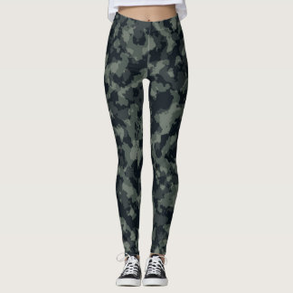 Forest Camouflage Full Print Leggings