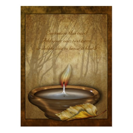 Forest Candle Customizable Postcard