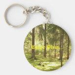 Forest - Carpe Diem Basic Round Button Key Ring