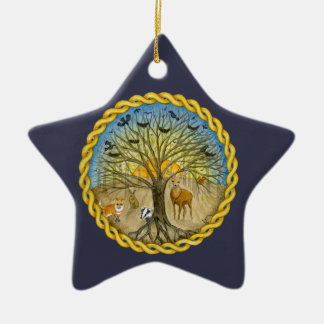 Forest Ceramic Star Decoration