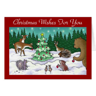 Forest Christmas - Greeting Card