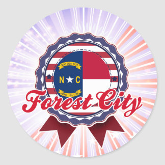 Forest City NC Round Stickers