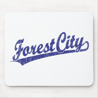 Forest City script logo in blue Mouse Pad