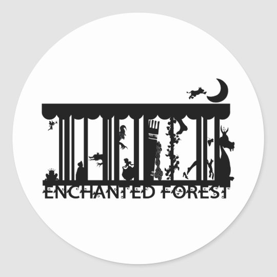 forest classic round sticker