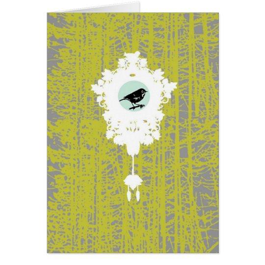 Forest Cuckoo Clock Card