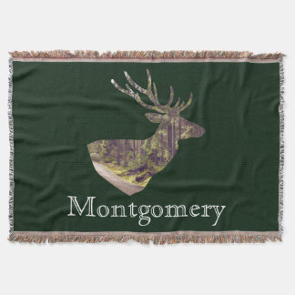 Forest Deer Buck Hunting Family Name