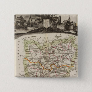 Forest, district boundaries 15 cm square badge