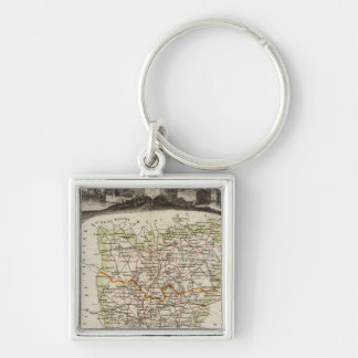 Forest, district boundaries key ring