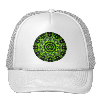 Forest Dome Mandala, Abstract Green Woods Cap