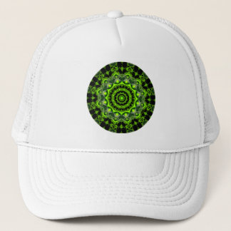 Forest Dome Mandala, Abstract Green Woods Trucker Hat