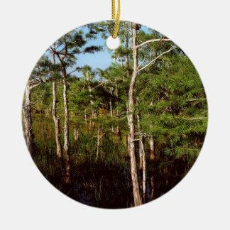 Forest Dwarf Cypress Everglades Florida Round Ceramic Decoration