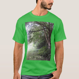 Forest Edge Tree Photo Men's T Shirt Green
