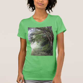 Forest Edge Tree Photo Women's T Shirt Green
