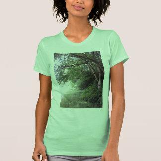 Forest Edge Tree Photo Women's T Shirt Light Green