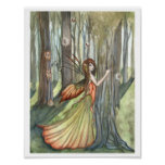 Forest Enchantment Fairy Poster Print