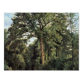 """Forest Entrance At Ville D'Avray By Corot Jean-Bap 4.25"""" X 5.5"""" Invitation Card"""