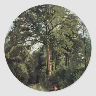 Forest Entrance At Ville D'Avray By Corot Jean-Bap Stickers