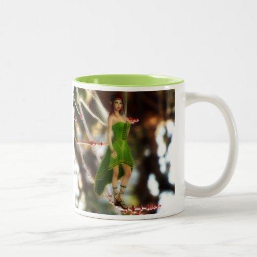 Forest fairy in green mug