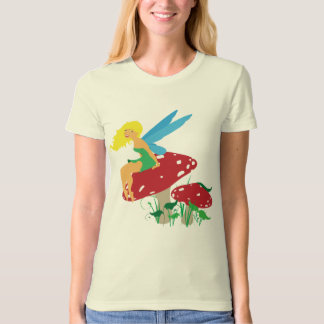 Forest Fairy Ladie's Fitted Organic T-Shirt