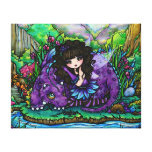 Forest Fairy Purple Dragon Nursery Canvas Art Gallery Wrapped Canvas