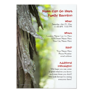 Forest Family Reunion Invitation